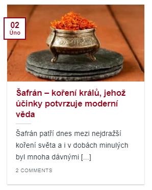 článek šafrán - koření králů, jehož účinky potvrzuje moderní medicína