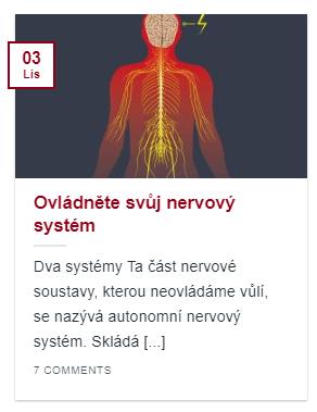 článek ovládněte svůj nervový systém
