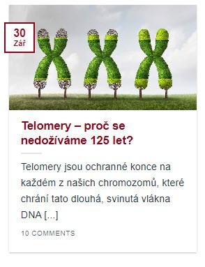 Náhled článku Telomery- proč se nedožíváme 125 let?