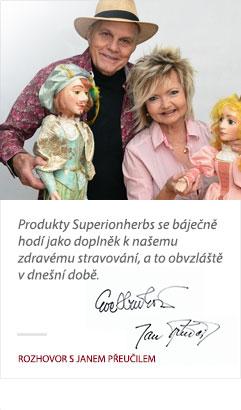 Jan Přeučil a Eva Hrušková o produktech Superionherbs
