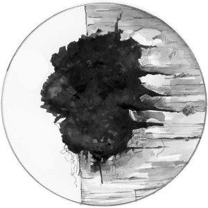 Rezavec šikmý - kresba akvarelem