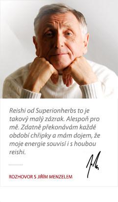 reference na Reishi od Superionherbs od Jiřího Menzela