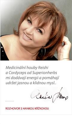 Hanka Křížková přispěla s referencí na doplňky stravy od Superionherbs