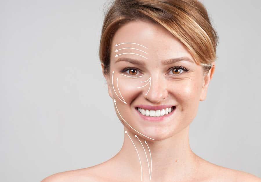 Obrázek ukazující omlazení neboli anti-aging obličeje