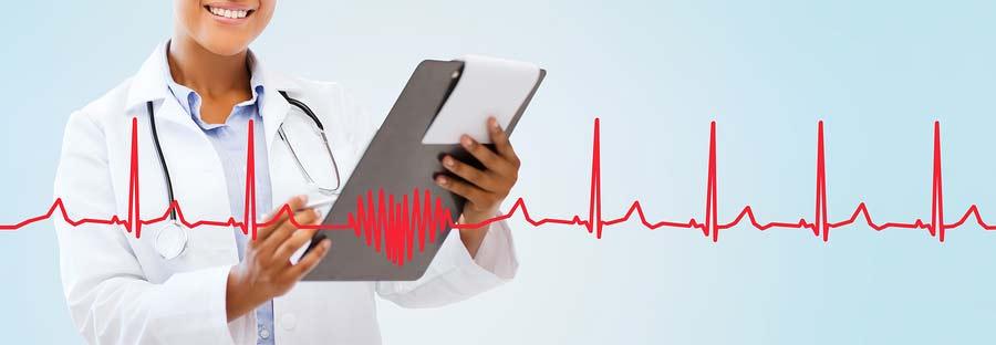 Koncept lékaře a arytmie srdce