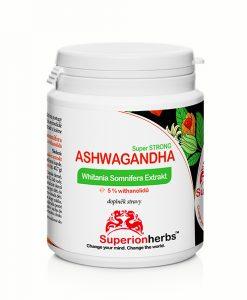 Ashwagandha Whitania Somnifera Exktrakt 5% withanolidů doplněk stravy od Superionherbs