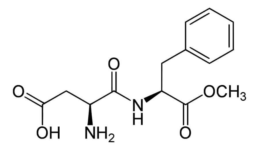 chemický vzorec aspartamu