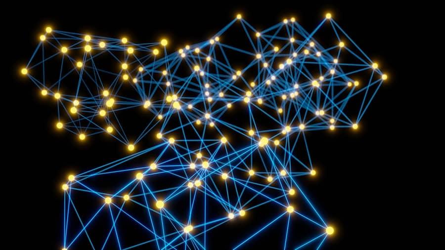Abstraktní obrázek propojených bodů
