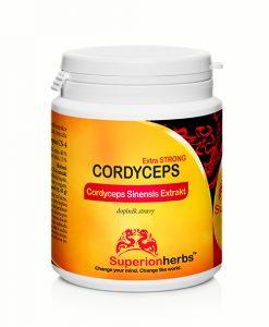 balení Cordyceps Extra Strong od Superionherbs, doplněk stravy