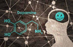 chemické znázornění dopaminu