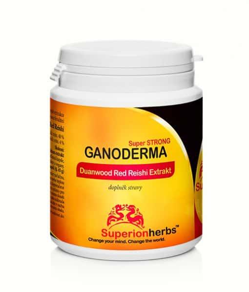 doplněk stravy Ganoderma, Duanwood Red Reishi, Superionherbs, 40 % polysacharidů