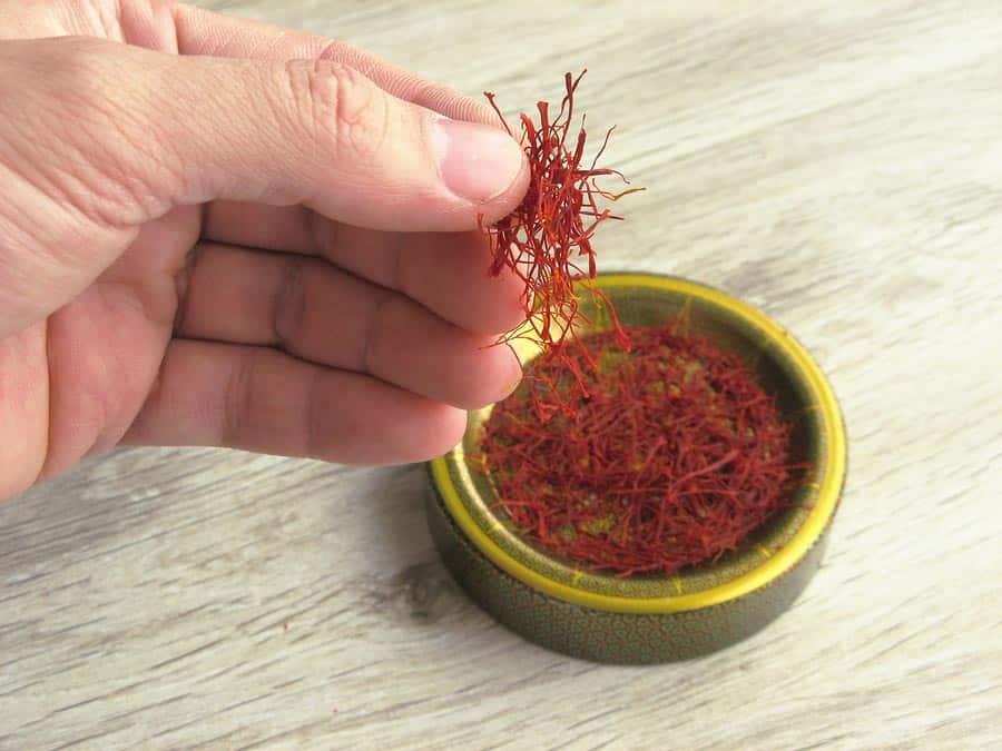 sušené pestíky šafránu