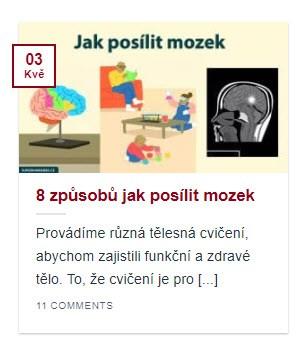 Náhled článku jak posílit mozek