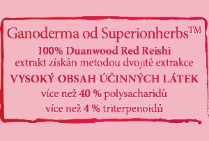 Pečeť kvality Superionherbs Duanwood Red Reishi