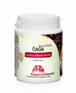 Čaga Super Strong, Superionherbs, 90 kapslí