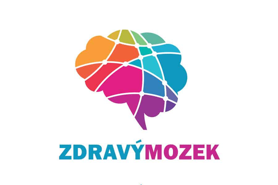 barevný nákres mozku s nápisem zdravý mozek